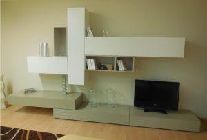 Visione d'insieme del soggiorno moderno outlet Mood - Luigi Fontana Arredamenti Lissone -
