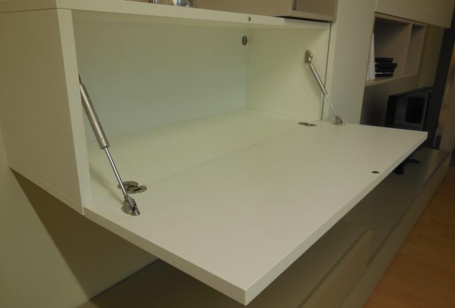 Pensile bianco aperto del soggiorno moderno outlet Mood - Luigi Fontana Arredamenti Lissone -