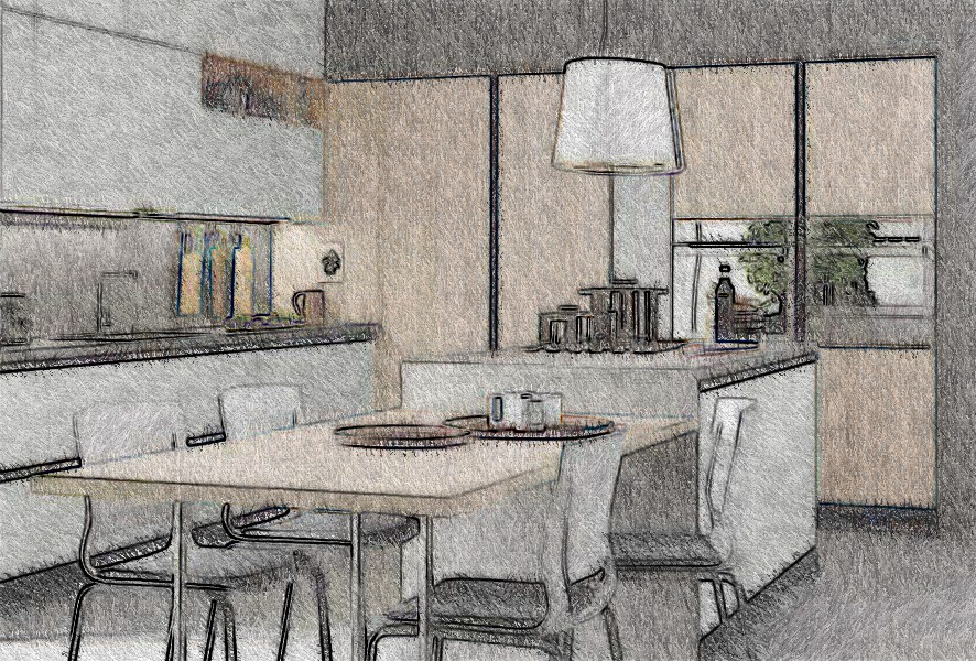 Promozione cucina altezza 215
