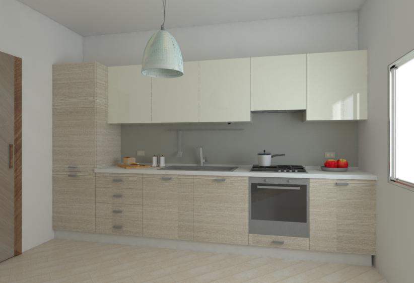 Vista da destra della Cucina H215