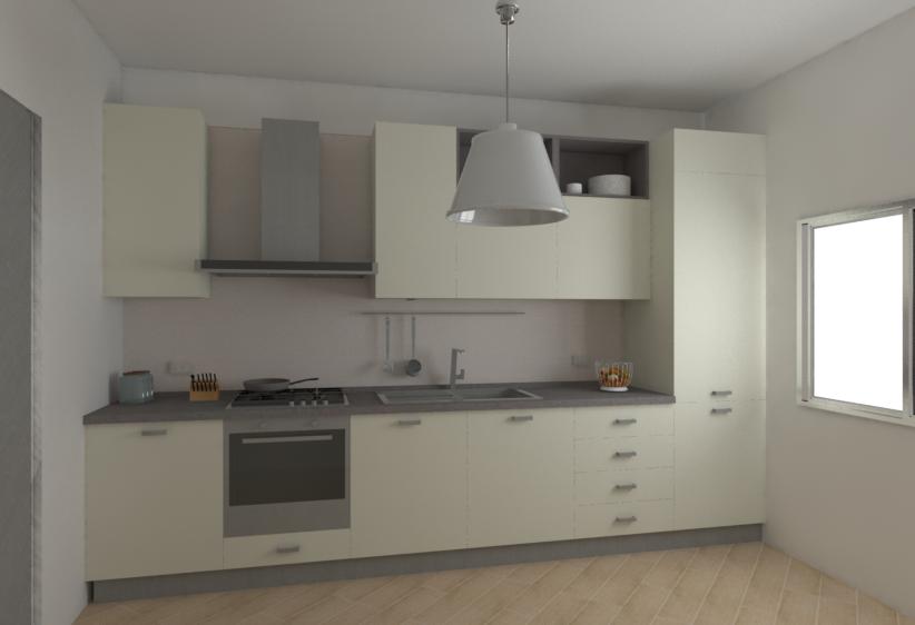 Vista da sinistra della Cucina H240