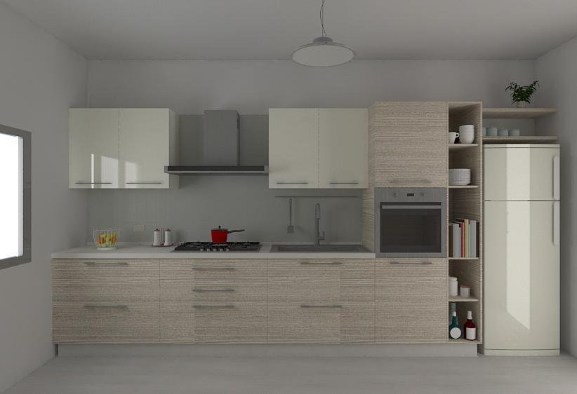 Vista di fronte della Cucina L360