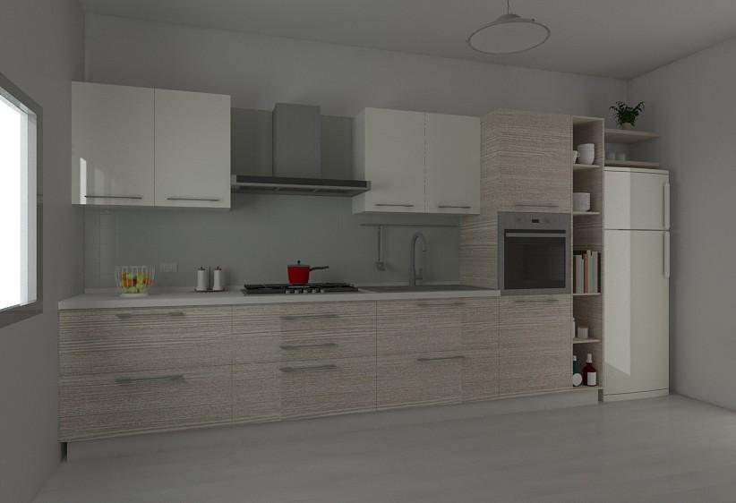 Vista da sinistra della Cucina L360