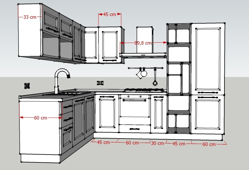 Promozione cucina corner luigi fontana arredamenti lissone for Cucina misure