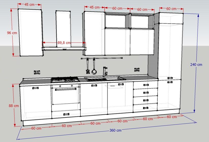 Promozione cucina maxi h240 luigi fontana arredamenti - Altezza lavello cucina ...