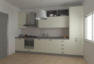 Vista da destra della Cucina H240