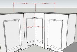 Misure della Cucina angolare Corner: pensile ad angolo