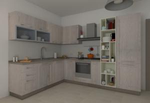 Visione d'insieme della Cucina angolare Corner